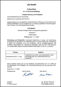 Zertifikat Fasswinkel FS 50 P