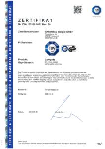Zertifikat Zurrgurte_Seite_1