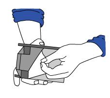 Zeichnung 2 International Wedge - Sperrbalkenhalter an der Wand anbringen