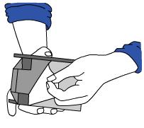 Zeichnung 2 Wedge XL - Sperrbalkenhalter an der Wand anbringen