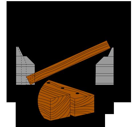 Zeichnung Kantholz einbringen