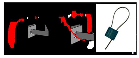 Zeichnung 6 Optionales Sicherheitssiegel als Manipulationsschutz