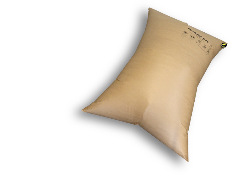 Kraft paper Dunnage bag 2-PLY (double-layer) with silicone valve